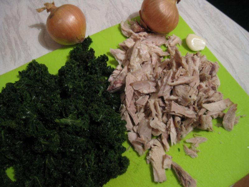 Risotto z kurczakiem i jarmużem