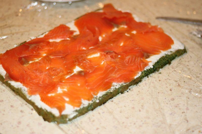 Rolada ze szpinaku i łososia