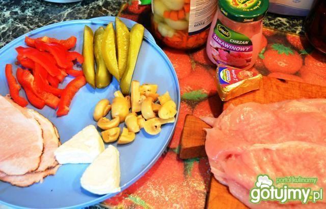 Roladki z indyka z papryką w sosie