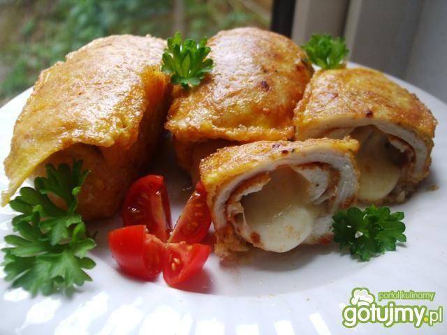 Roladki z kurczaka z dwoma serami