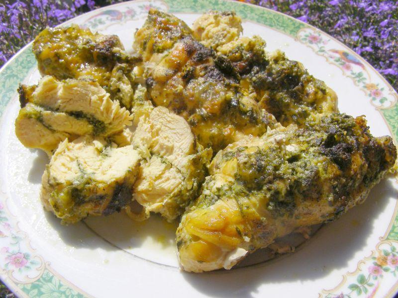 Roladki z kurczaka z pietruszką,mozzarellą