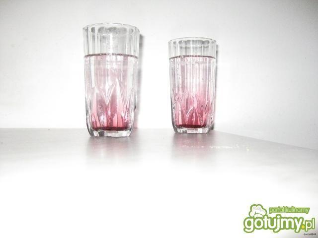 Różowy ocean - czyli  drink malinowy