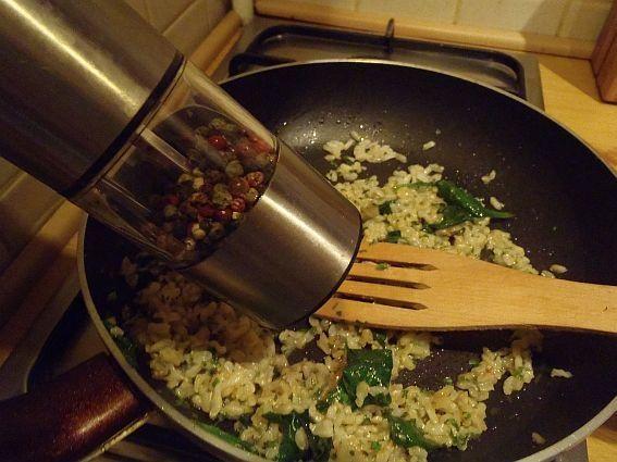 Ryż ze szpinakiem