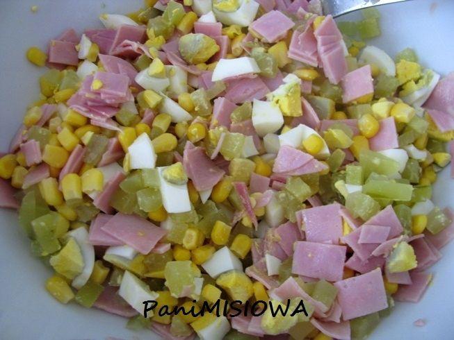 Sałatka kalafiorowa z szynką