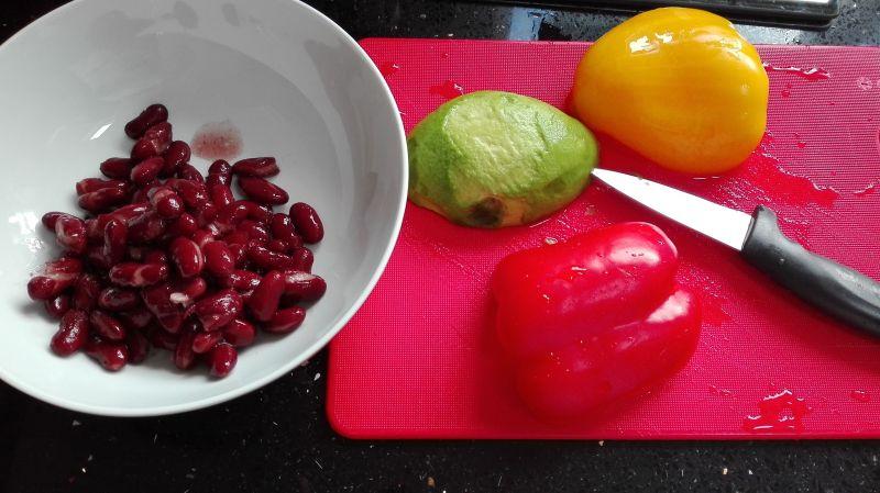 Sałatka nr.1- Meksykańska. Dieta 1200 kalorii