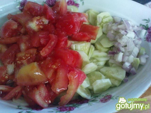 Sałatka ogórka i pomidora