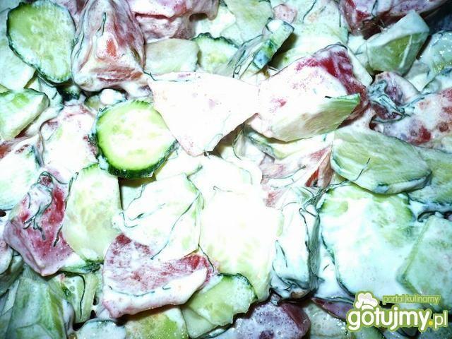 Sałatka ogórkowo-pomidorowa