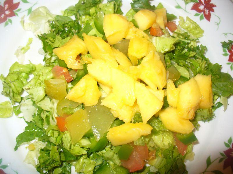 Sałatka z arbuzem i melonem