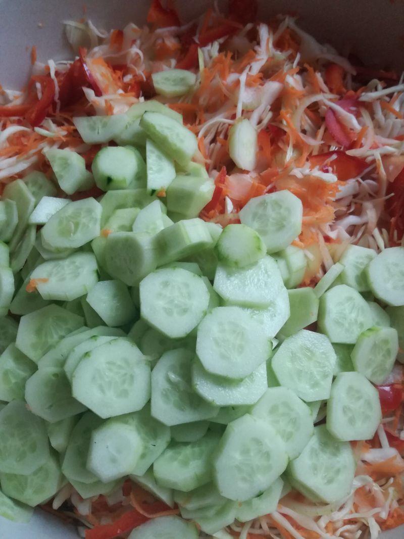 Sałatka z kapusty i warzyw na zimę