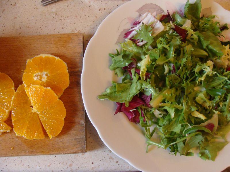 Sałatka z kurczakiem i pomarańczą