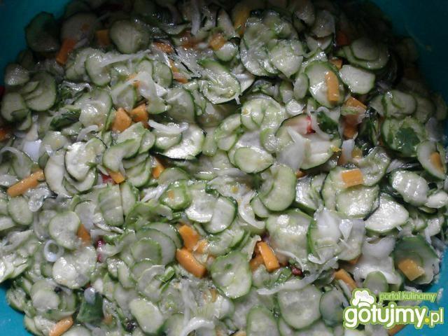 Sałatka z ogórków na zimę wg dayzi