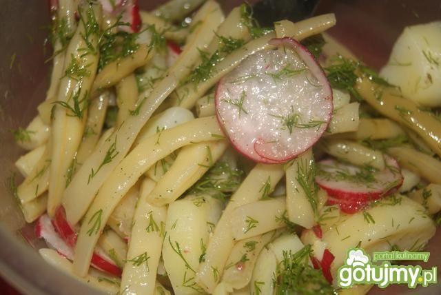 Sałatka z żółtej fasoli( do grilla)