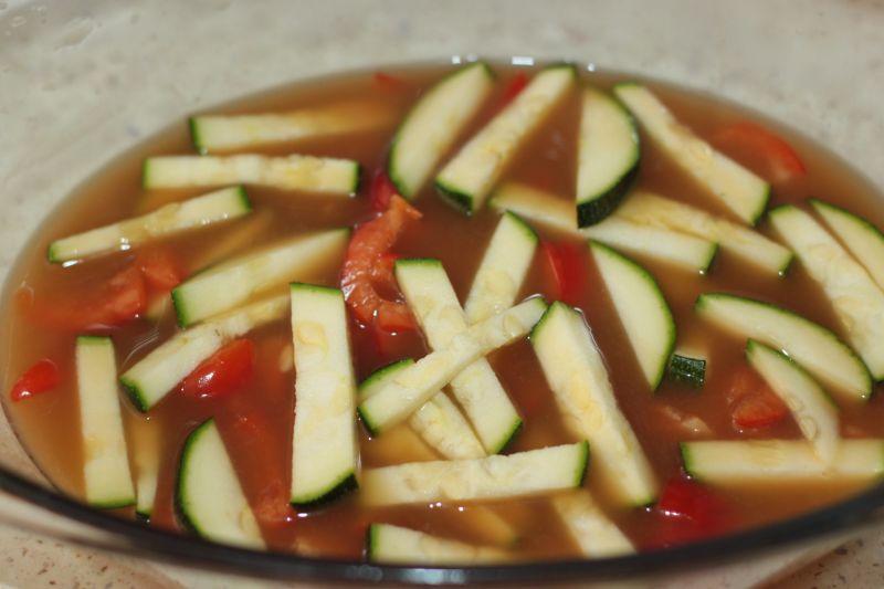 Schab duszony z warzywami