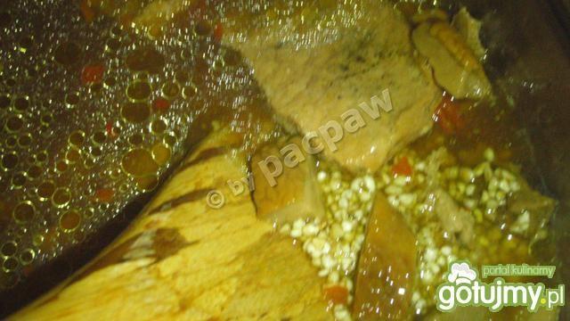 Schab w sosie grzybowym z kaszą