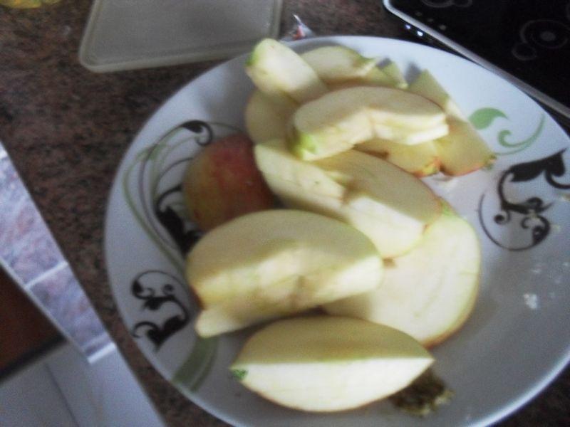Schab zapiekany z jabłkiem