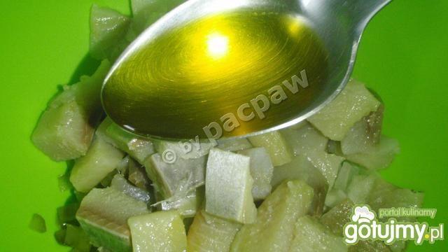 Śledzik z ogórkiem w oleju lnianym