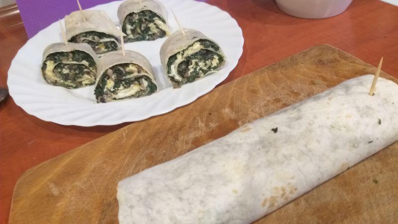 Smaczne przekąski z tortilli