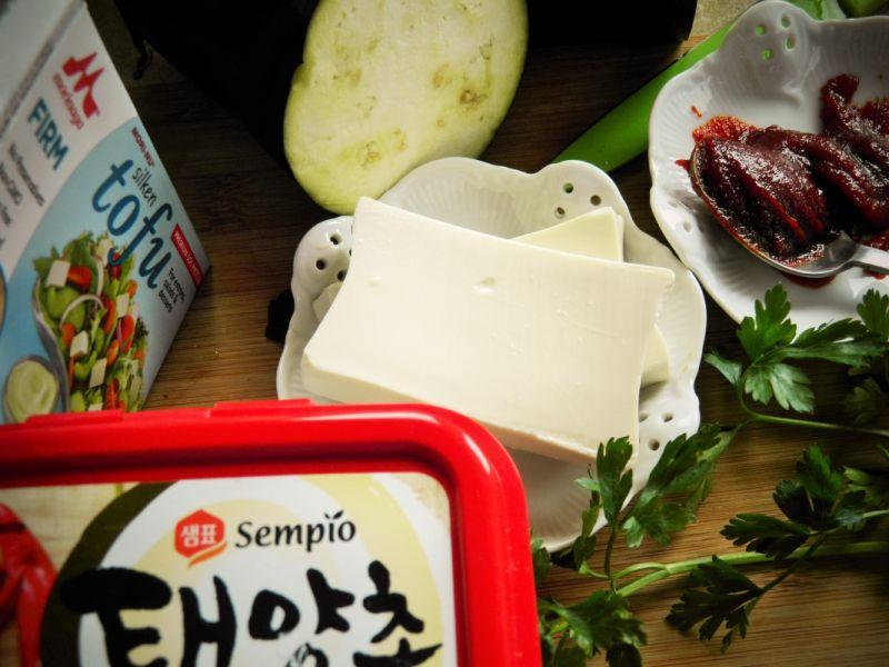 Smażone tofu z bakłażanem