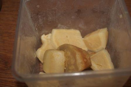 Sos z białych warzyw  z imbirem lub chrzanem