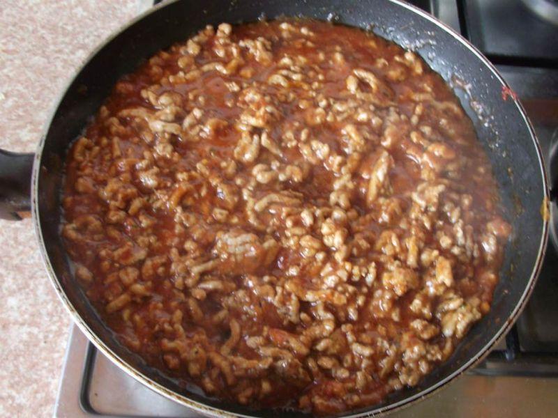 Spaghetti ala bolognese z fasolką szparagową