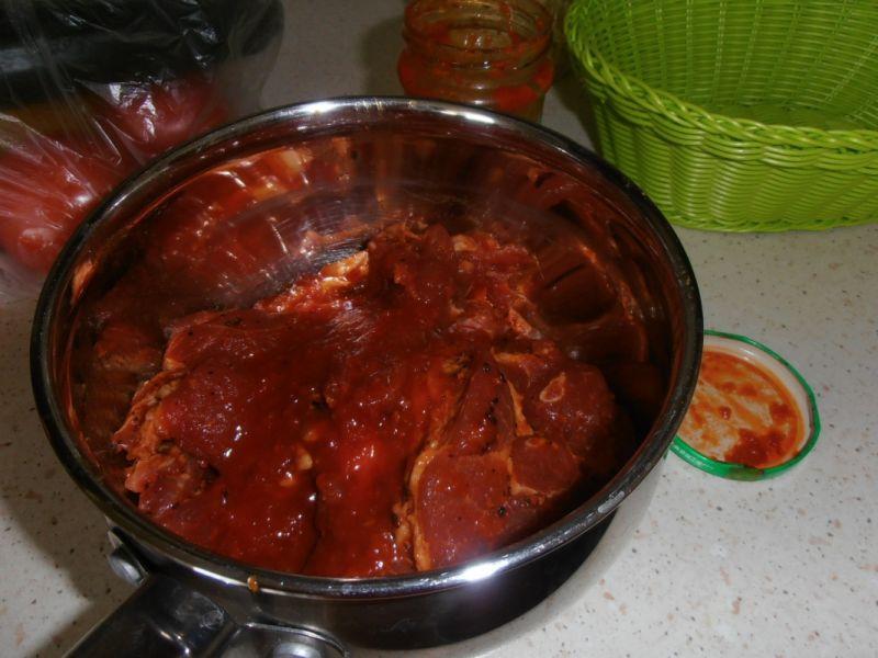 Stek z karkówki z sosem słodko-kwaśnym