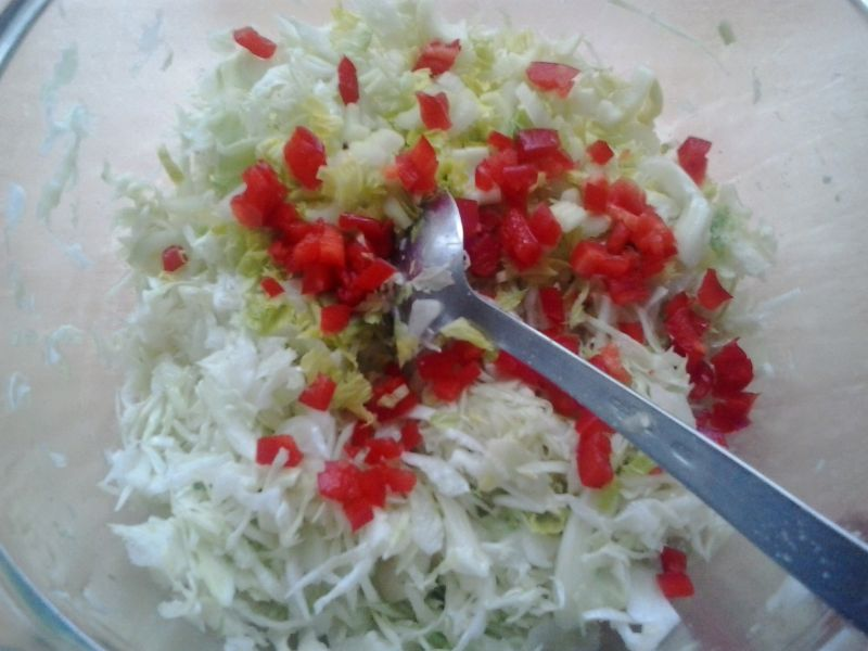 surówka z kapusty selera selera naciowego papryki