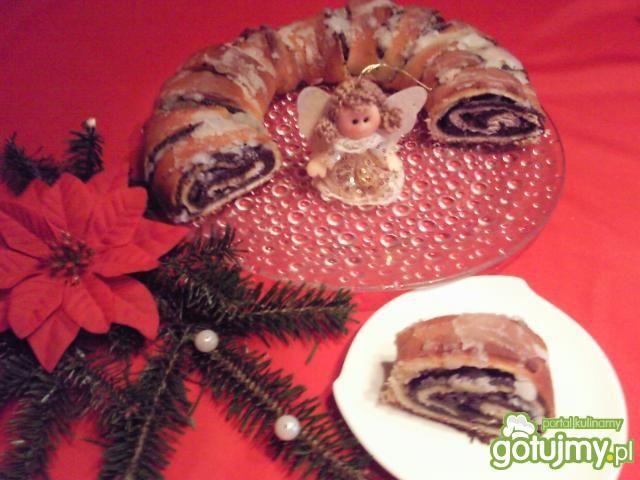 Świąteczny wieniec makowy