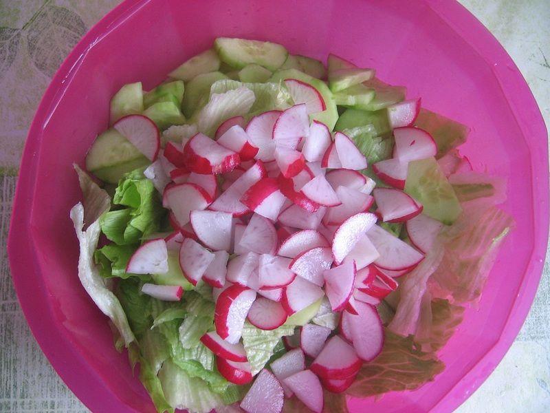 Szybka sałatka do obiadu