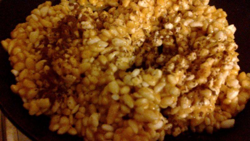 Szyszki z ryżu preparowanego