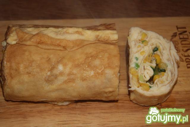 Tamagoyaki z kukurydzą