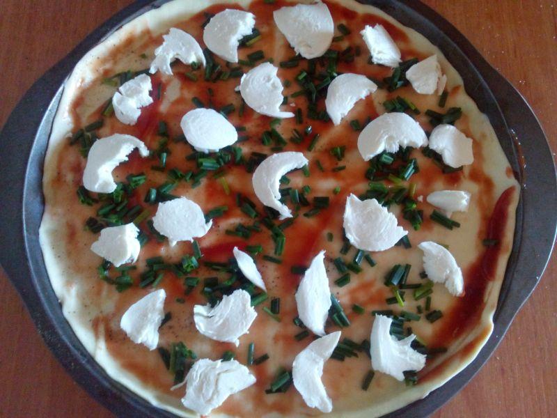 Tarta a'la pizza z kurczakiem