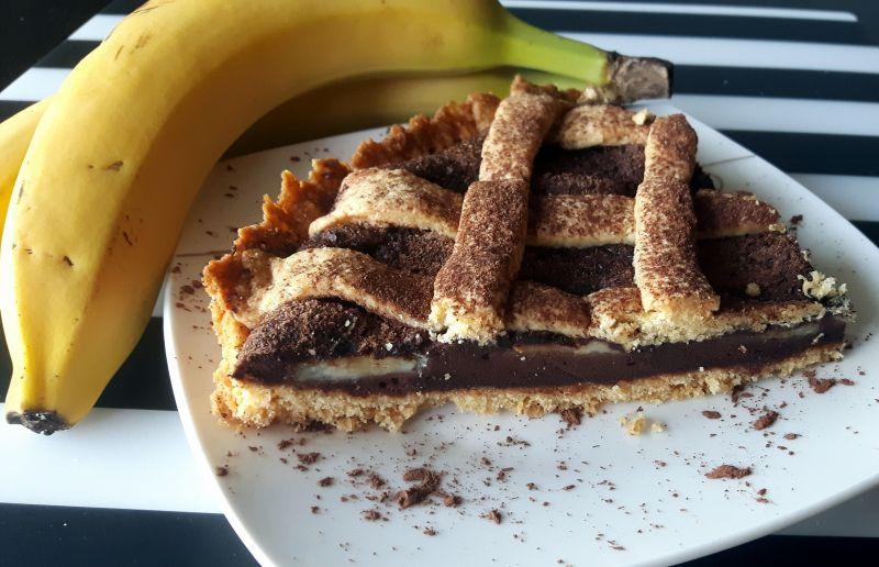 Tarta czekoladowa z bananami