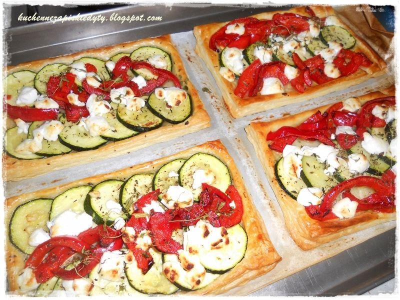 Tarta francuska z warzywami i kozim serem