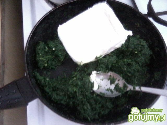 Tarta ze szpinakiem i białym serem