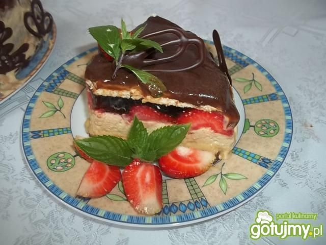 Torcik kawowo-serowy