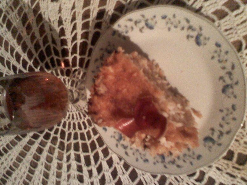 Torcik ryżowy z suszonymi jabłkami i nutą alkoholu