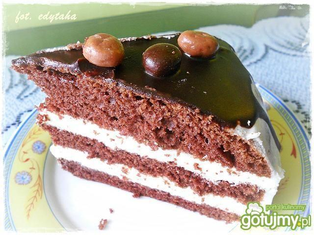 Tort kakaowy z cytrynową pianką