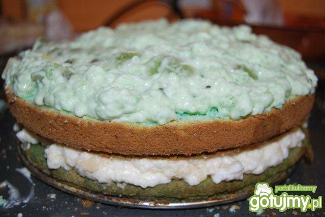 Tort kawałek błękitu