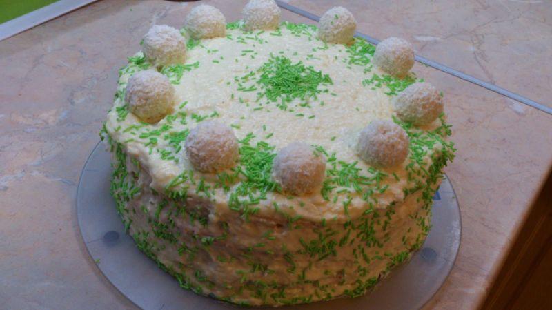 Tort kokosowo - budyniowy