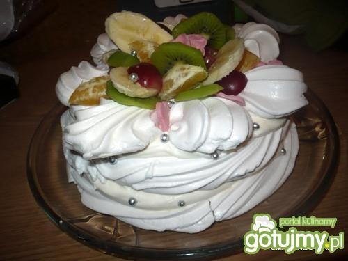 Tort Pawłowej z półproduktów