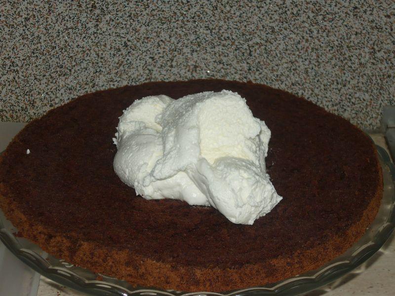Tort śmietankowo czekoladowy