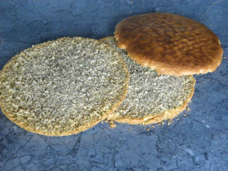 Tort świąteczny makowo- kokosowy