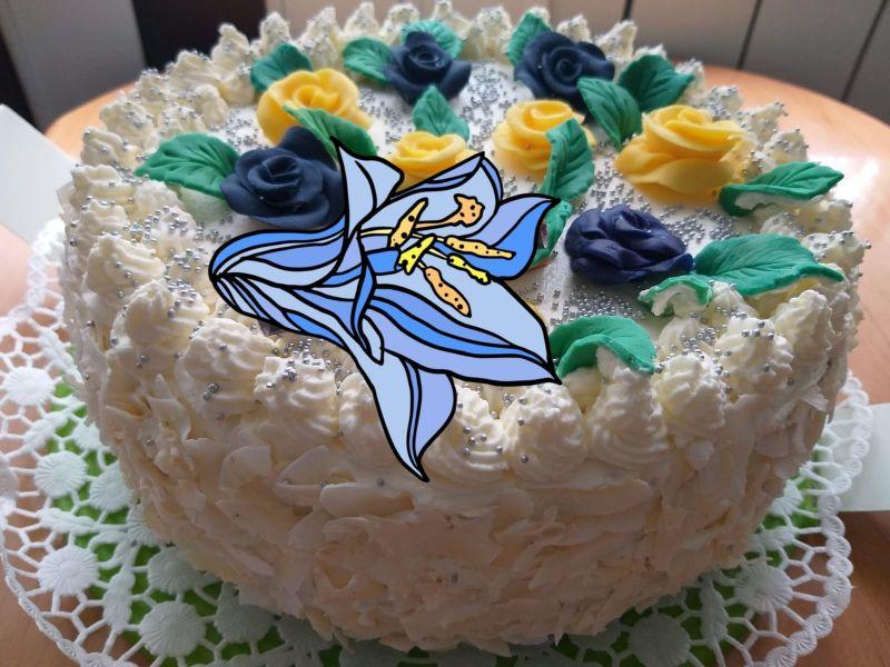Tort urodzinowy dla córki i syna