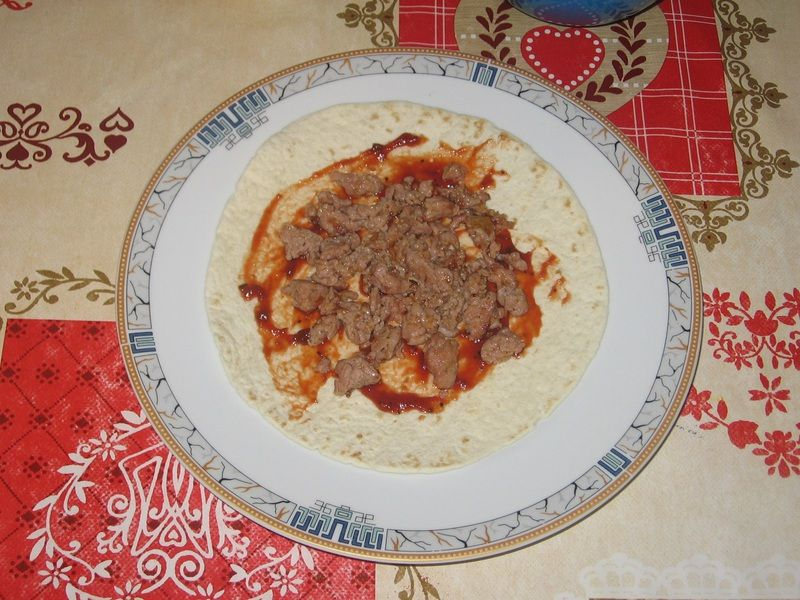 Tortilla z mięsem mielonym