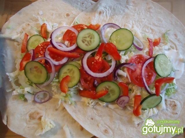 Tortilla z warzywami wg Mychy