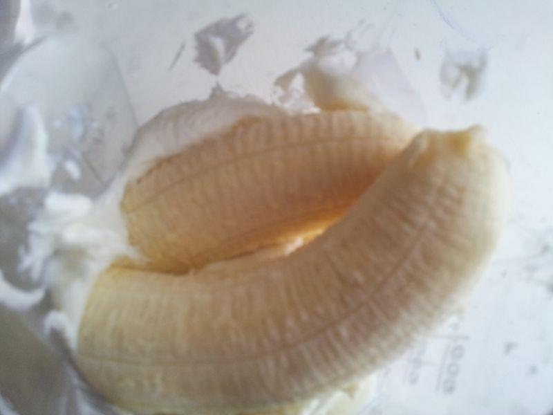 twarożek z bananem i musem z dyni na szybko
