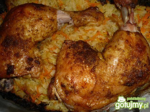 Udka z kurczaka z kiszoną kapustą