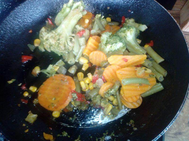 Warzywa w cieście naleśnikowym