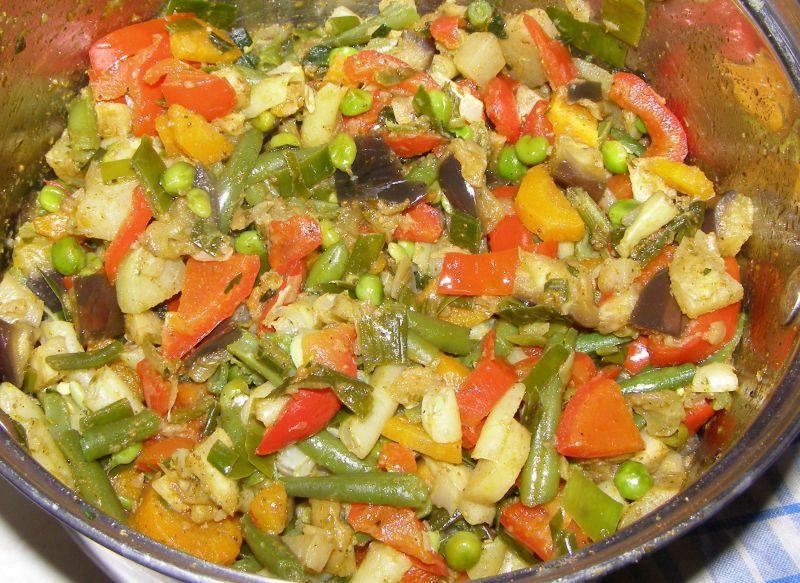 Warzywa z ryżem