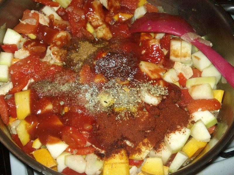 Warzywna potrawka z kurczakiem